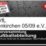 Einladung zur Mitgliederversammlung 2018 der Fußballabteilung
